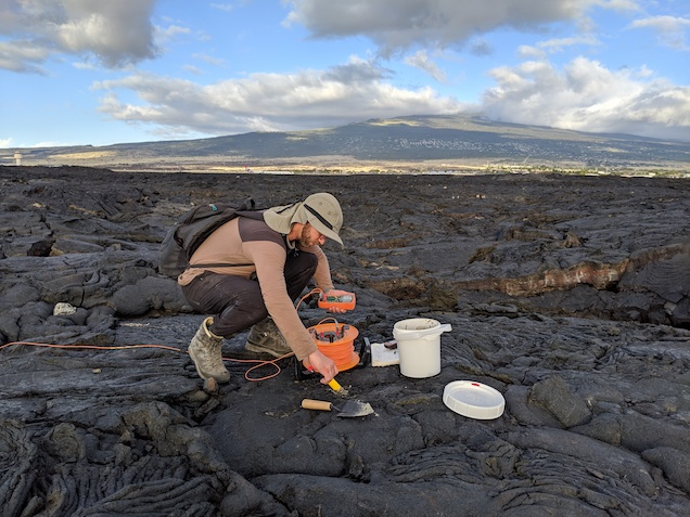 Niels Grobbe: SP on recent lavaflow, NELHA
