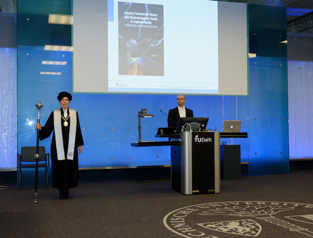 Niels Grobbe at the start of his PhD defense