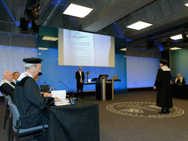 The end of Niels Grobbe's public PhD defense